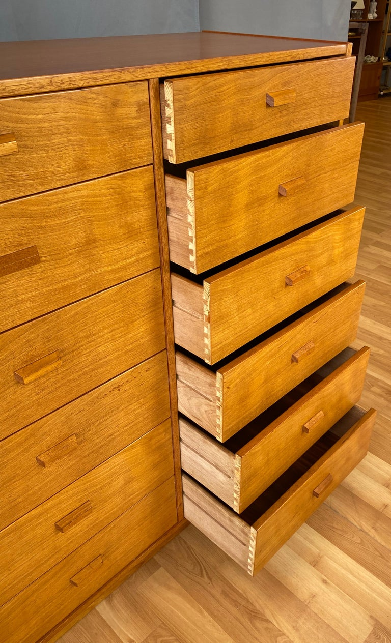 Monumental Danish 12 Drawers, Chest of Drawers in Teak, Circa 1970s For Sale 4
