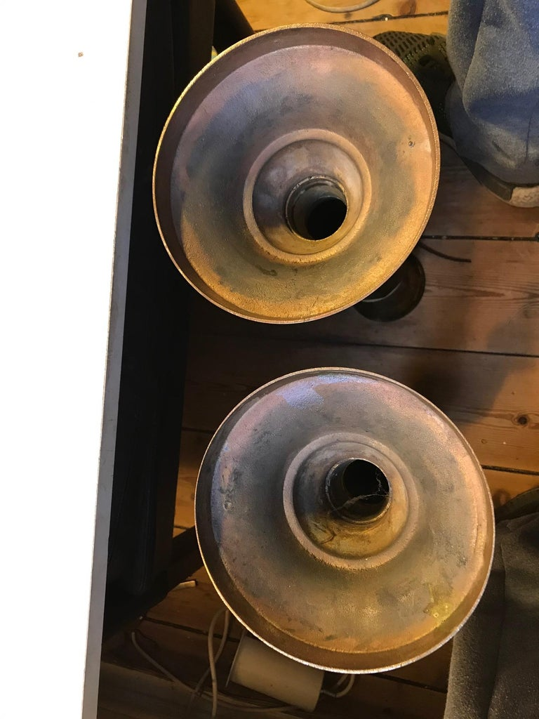 Monumental Danish Church Candleholders in Brass, 1950s For Sale 1