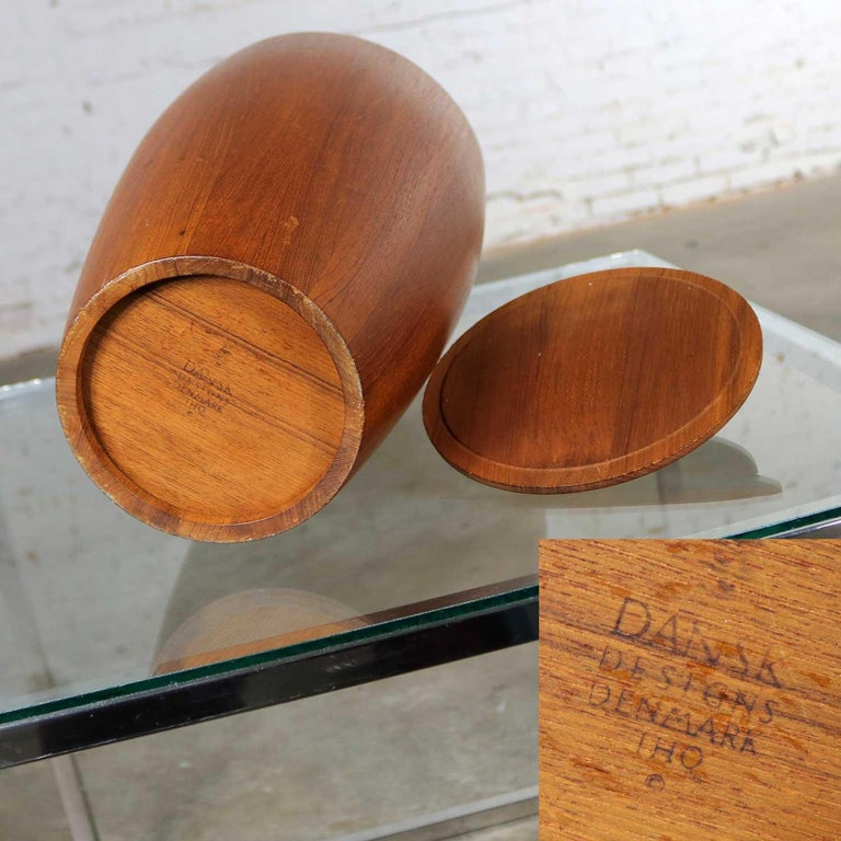 Monumental Dansk Staved Teak Bucket Style Ice Bucket by Jens Quistgaard For Sale 4