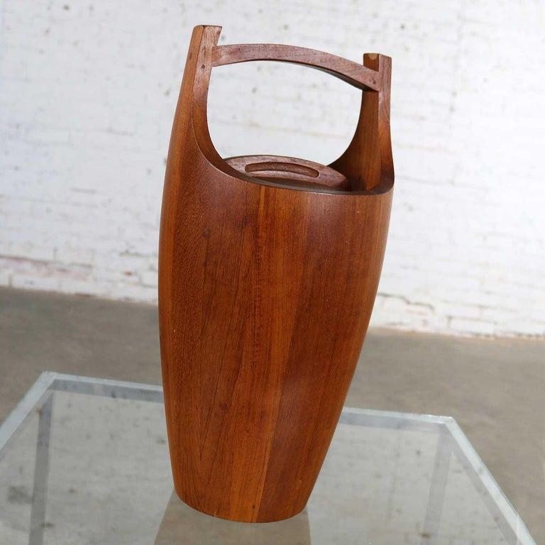 Danish Monumental Dansk Staved Teak Bucket Style Ice Bucket by Jens Quistgaard For Sale