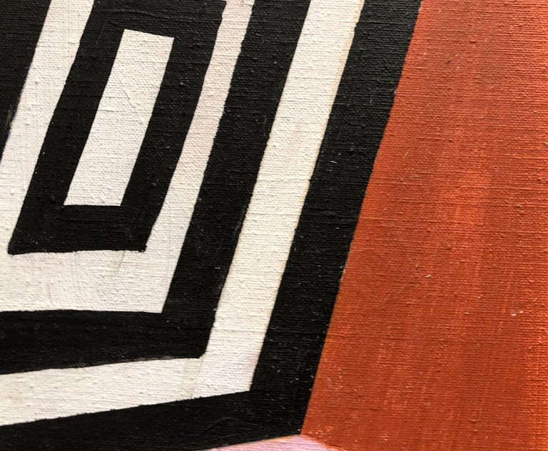 Late 20th Century Monumental Diptych Abstract Painting by Kiyoko Natori, circa 1975 For Sale