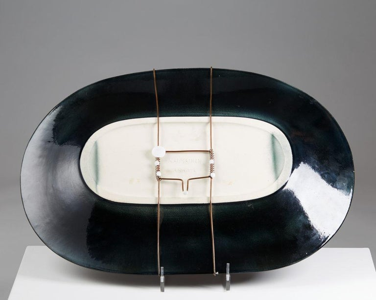 Monumental Dish Designed by Birger Kaipiainen for Arabia, Finland, 1960s In Good Condition For Sale In Stockholm, SE
