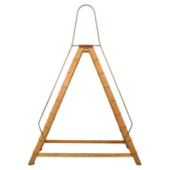 Monumental Double-Sided Wood Ladder