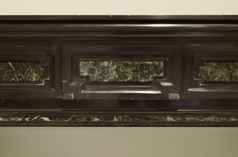 Monumental Dutch mantelpiece from the 19th century.