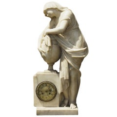 Monumental Early 19th Century Marble Clock from the Collection at Boscobel