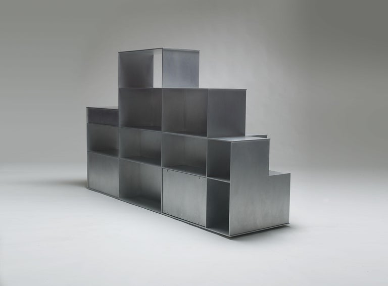 Monumental Fifty/50 Floor Shelf by Jonathan Nesci, Final Work of Edition 3/3 In New Condition For Sale In Columbus, IN