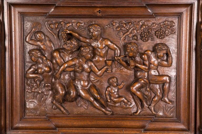 German Monumental Figurative Renaissance Bar Cabinet, circa 1880 For Sale