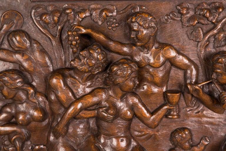 Hand-Carved Monumental Figurative Renaissance Bar Cabinet, circa 1880 For Sale