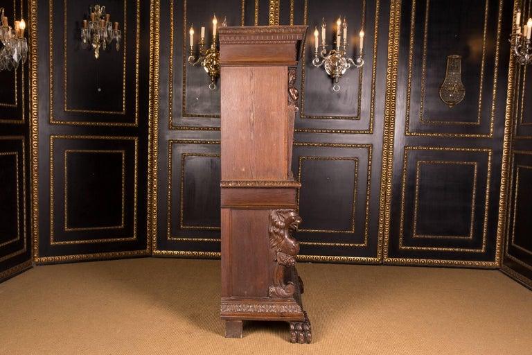 Monumental Figurative Renaissance Bar Cabinet, circa 1880 For Sale 2