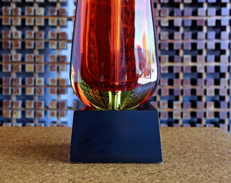 Monumental Flavio Poli for Seguso Murano Glass Table Lamp In Good Condition For Sale In Costa Mesa, CA