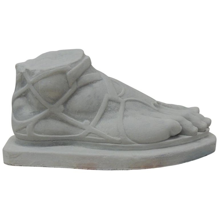 """Monumental Foot of """"Hermes"""" with Sandal Sculpture For Sale"""