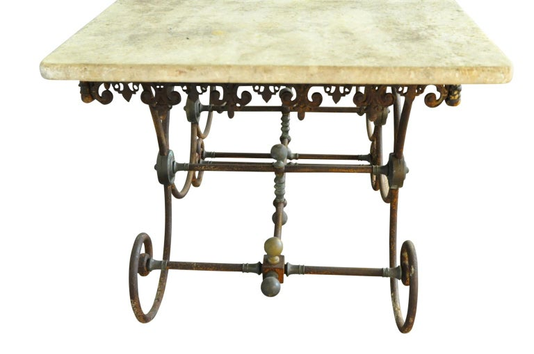 Iron Monumental French 19th Century Butchers Table For Sale