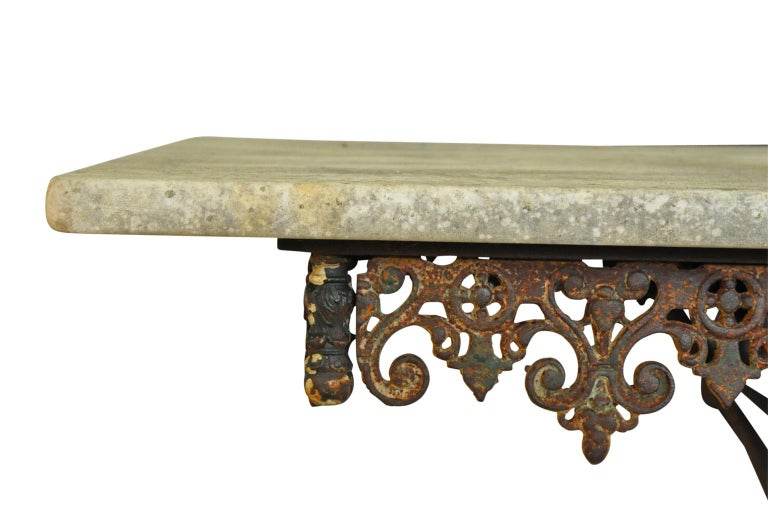 Monumental French 19th Century Butchers Table For Sale 1