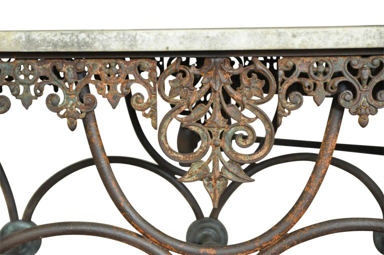Monumental French 19th Century Butchers Table For Sale 2