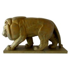 Monumental French Art Deco Bronze Model of a Lion, by Gaston Etienne Le Bourge