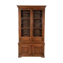Monumental French Louis Philippe Period Lyonnaise Bibliotheque or Bookcase