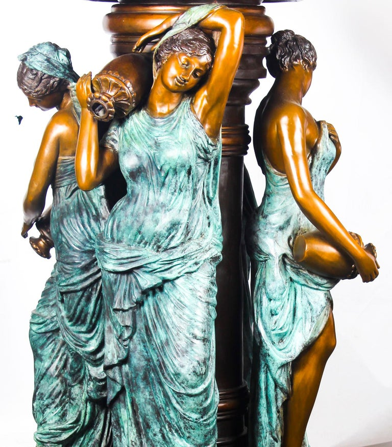 Monumental French Neoclassical Revival Bronze Sculptural Pond Fountain For Sale 10