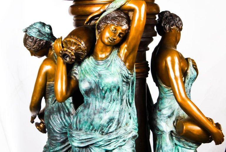 Monumental French Neoclassical Revival Bronze Sculptural Pond Fountain For Sale 13