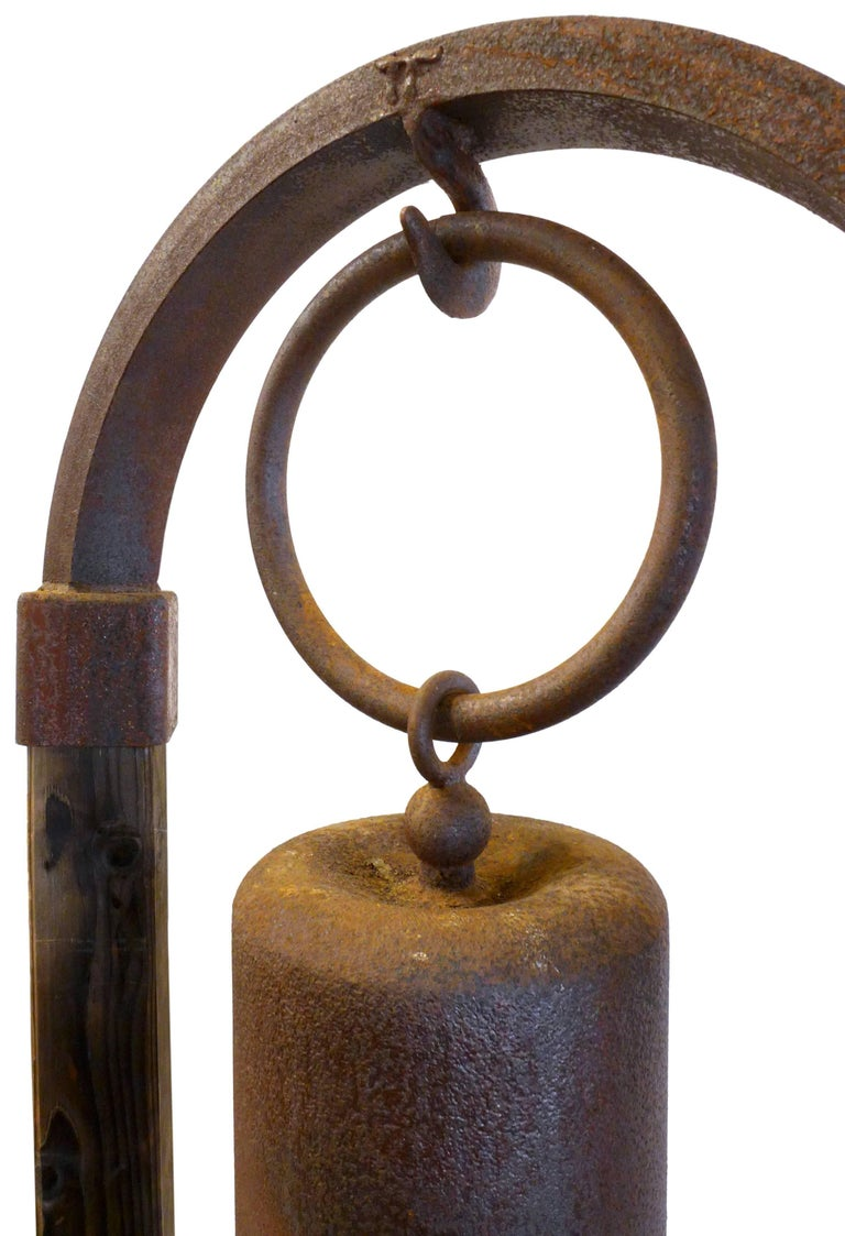 American Monumental Garden Bell by Tom Torrens For Sale
