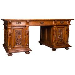Monumental German Gründerzeit Partner Desk, circa 1880