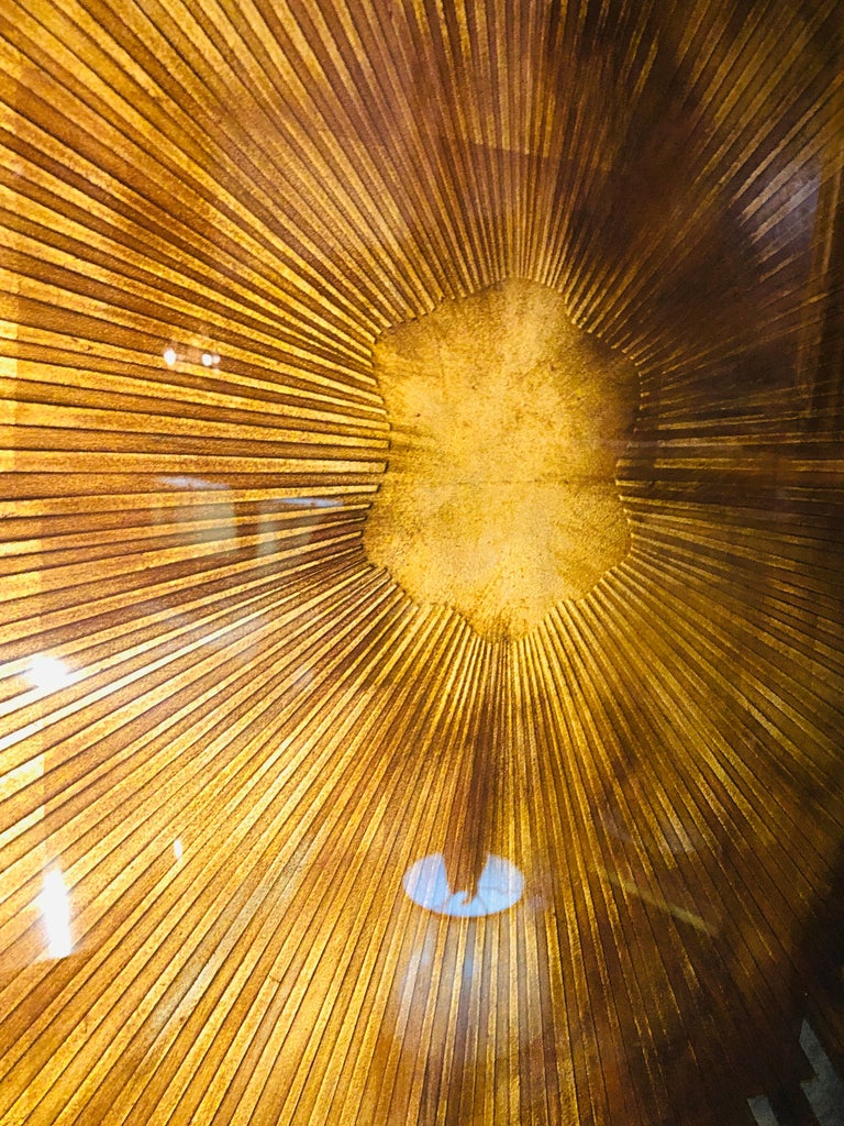 Monumental Gilt Gold and Silver Glass Art Deco Sunburst Mirror or Table Top For Sale 2