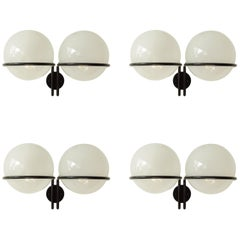 Monumental Gino Sarfatti Set of Four Mod. 239/2 Wall Sconces for Arteluce