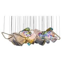 Monumental Glass Colorful Light Installation, by Vera Dieckmann