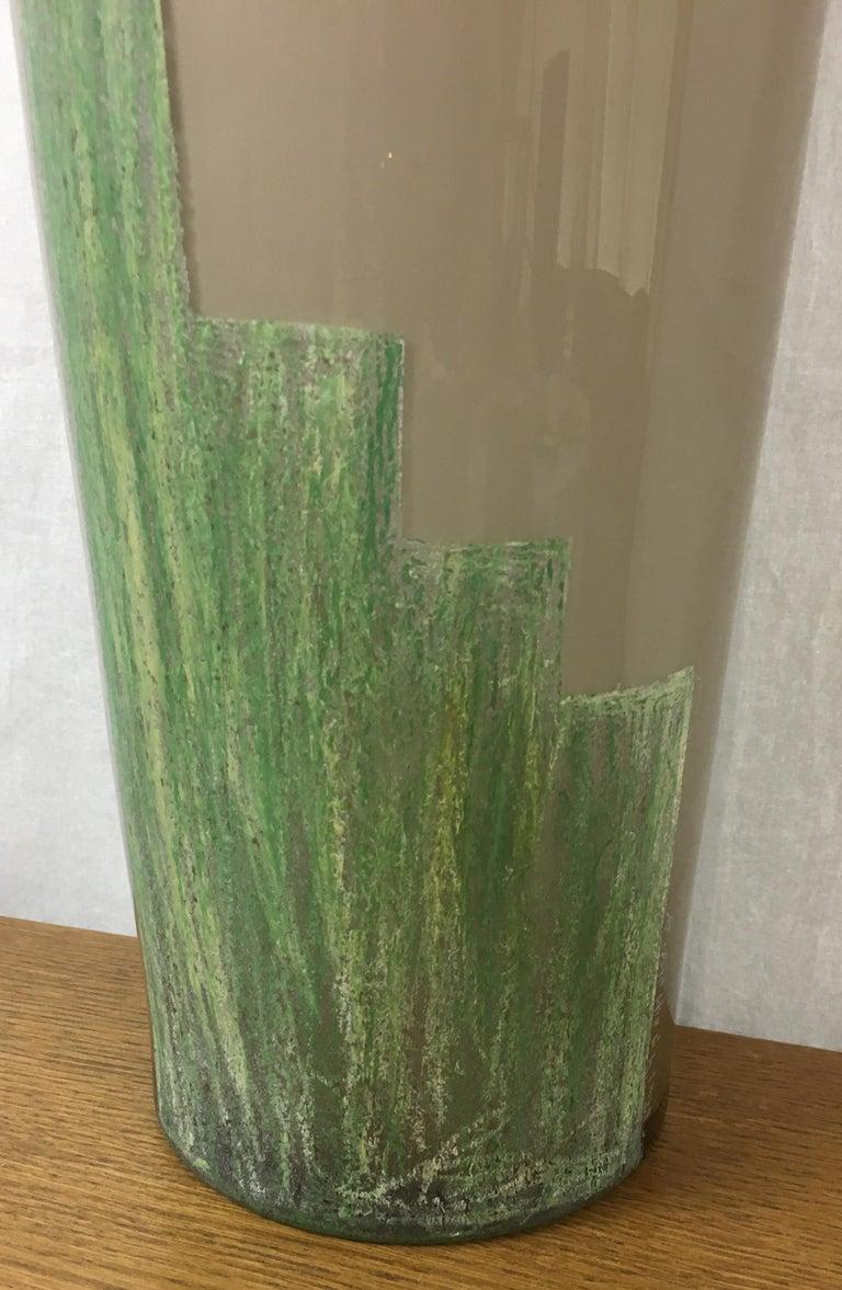 Iconic Art Deco Cubist Vase by A. Riecke from La Coupole Brasserie, Paris France For Sale 5