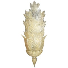 Monumental Gold Leaves Sconce by Barovier e Toso