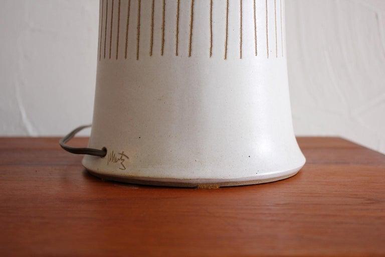 Monumental Gordon & Jane Martz Studio Tall Ceramic Table Lamp For Sale 6