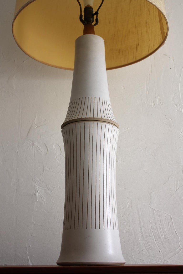 20th Century Monumental Gordon & Jane Martz Studio Tall Ceramic Table Lamp For Sale