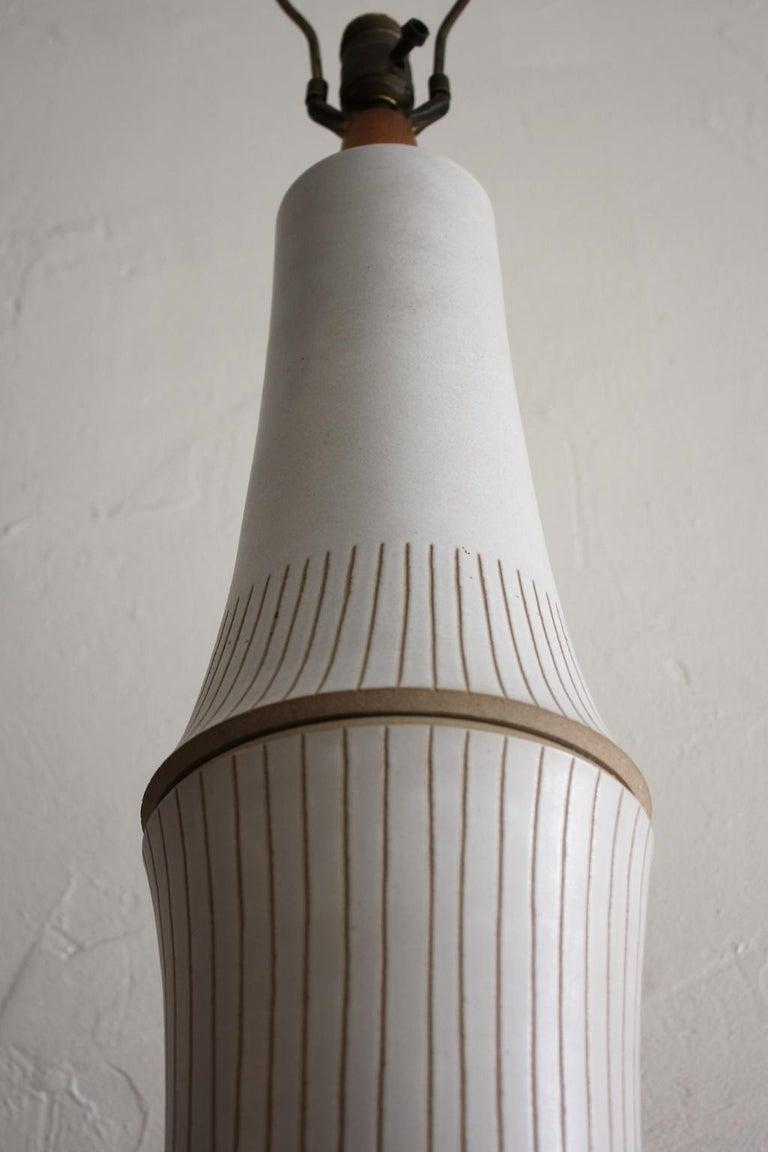 Monumental Gordon & Jane Martz Studio Tall Ceramic Table Lamp For Sale 2