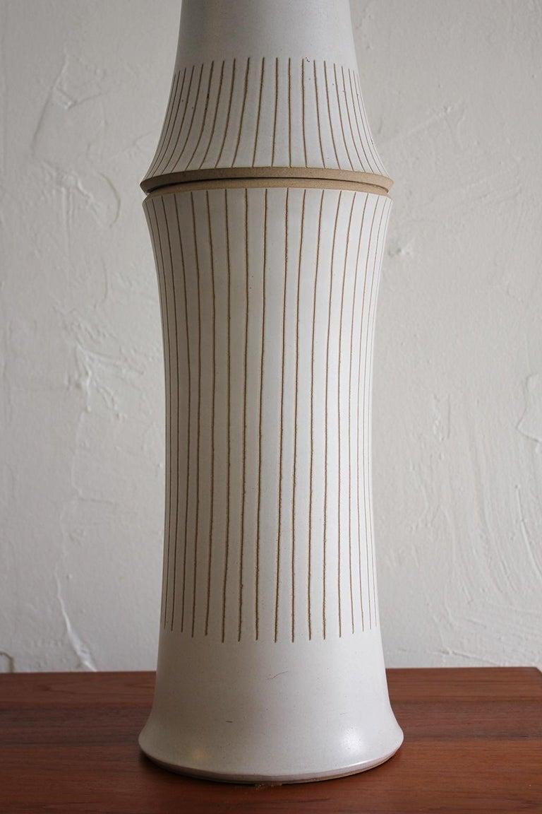 Monumental Gordon & Jane Martz Studio Tall Ceramic Table Lamp For Sale 4