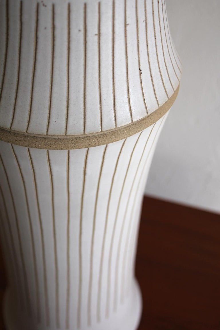 Monumental Gordon & Jane Martz Studio Tall Ceramic Table Lamp For Sale 5