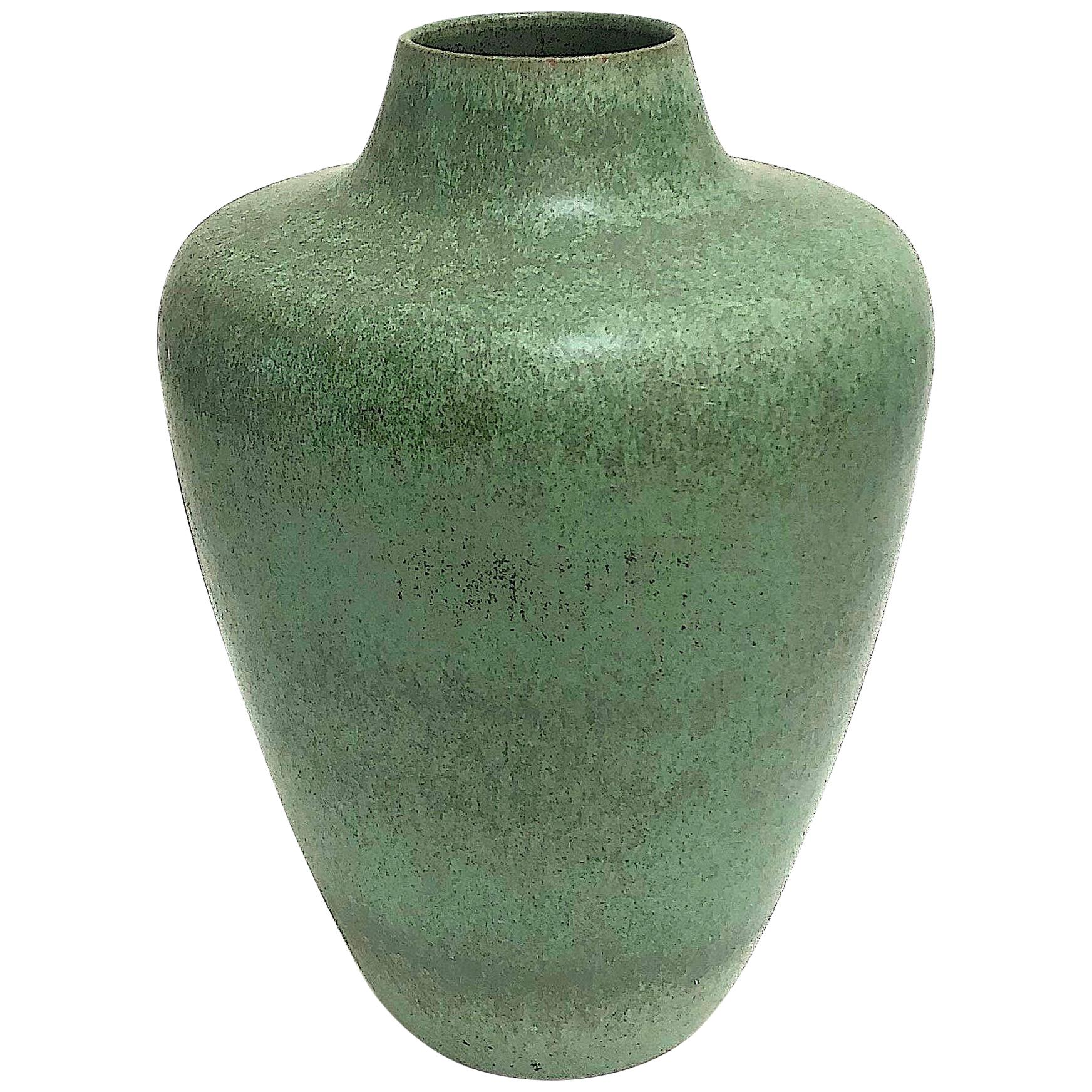 Monumental Hameln Stoneware Floor Vase, Bauhaus, Delius