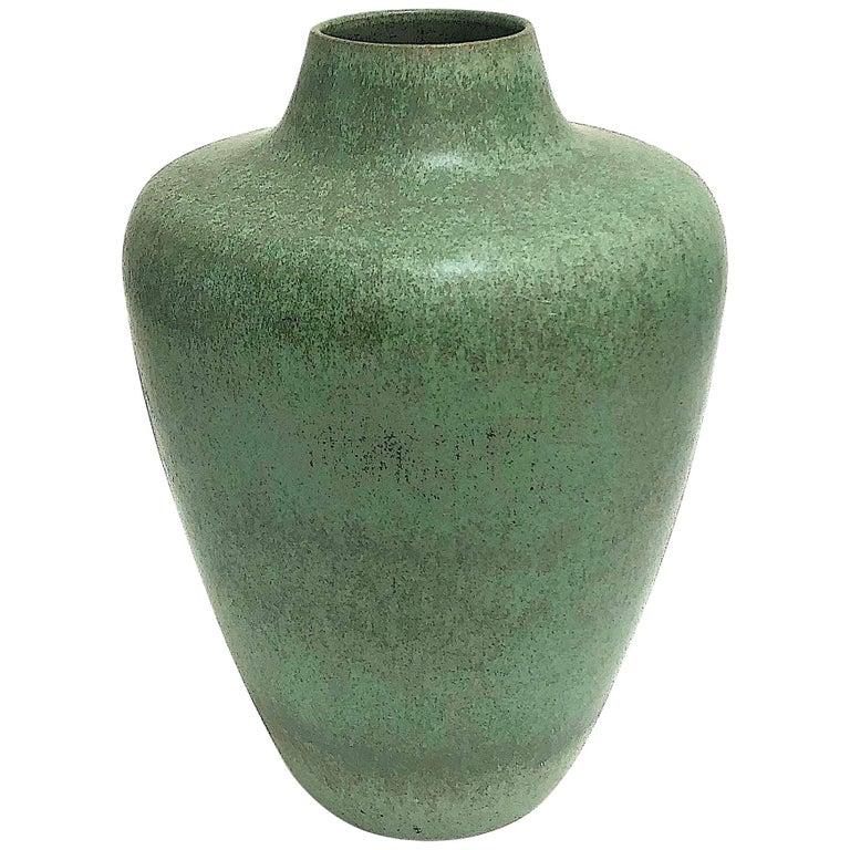 Monumental Hameln Stoneware Floor Vase, Bauhaus, Delius For Sale