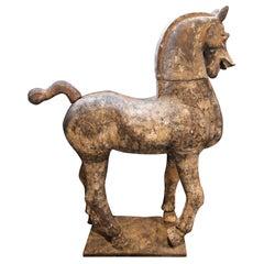 Monumental Han Dynasty Style Terracotta Horse