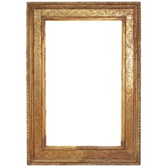 Monumental Hand-Carved and Gilded Florentine Picture Frame