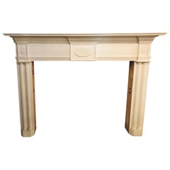 Monumental Hand Carved Neoclassical Fire Place Surrounds