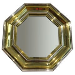 Monumental Hollywood Regency Bicolor Wall Mirror by Sandro Petti, Italy, 1970s