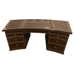 Monumental Hollywood Regency Style Executive's or Partners Desk in Rosewood