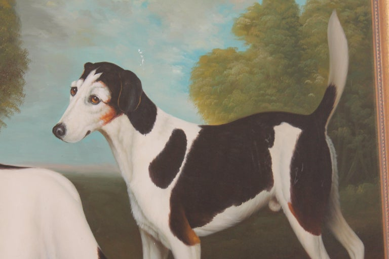 Country Monumental Hunting Dog Oil Painting / Unsigned For Sale