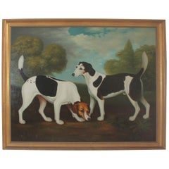 Monumental Hunting Dog Oil Painting / Unsigned