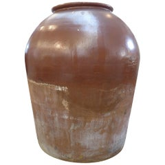 Monumental Industrial Salt-Glazed Stoneware Vessel