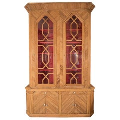 Monumental Inlaid Bamboo Cabinet