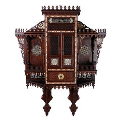 Monumental Inlaid Wall Cabinet