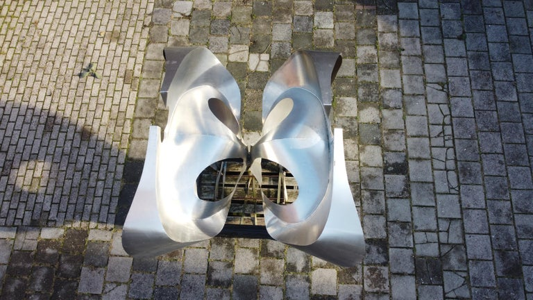 Monumental Inox Sculpture by Dutch Artist Diet Wiegman, circa 1970 For Sale 4