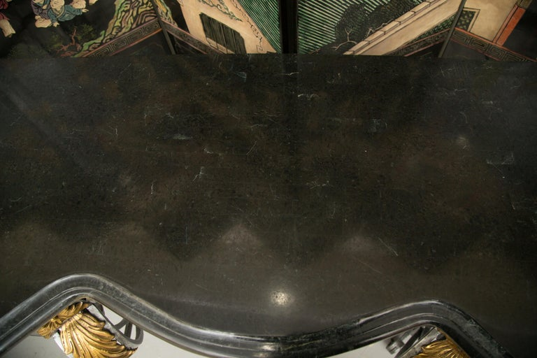 Other Monumental Iron Console with Gilt Decoration For Sale