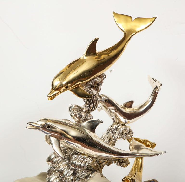 Monumental Italian 925 Silver & Lapis