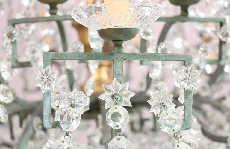 Monumental Italian Crystal Chandelier For Sale 3